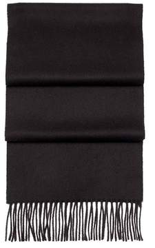 Aspinal of London Pure Cashmere Scarf In Black