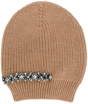 No.21 crystal embellished beanie