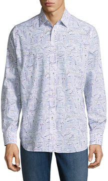 Robert Graham Men's Leonardo Cotton Sportshirt