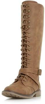 Head Over Heels *Head Over Heels by Dune 'Tibbie' Tan Flat Boots