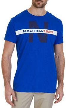 Nautica Logo Print Cotton Tee