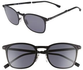 BOSS Men's 53Mm Sunglasses - Matte Black/ Gray