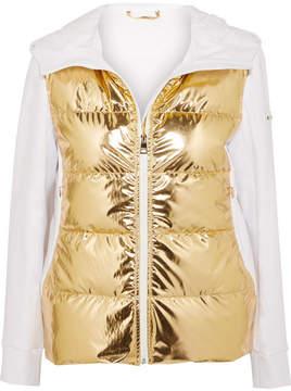 Fendi Golden Roma Metallic Padded Ski Jacket