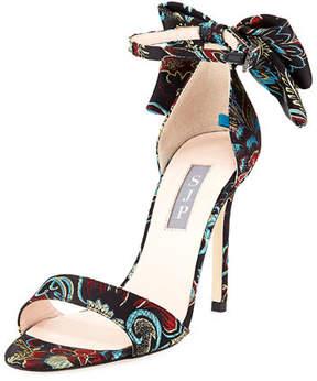 Sarah Jessica Parker Trancebis Satin Bow Sandal