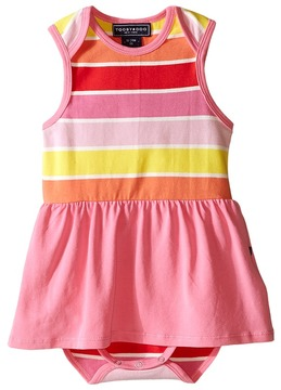 Toobydoo Pink Romper Dress (Infant)