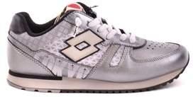 Lotto Leggenda Women's Silver Leather Sneakers.