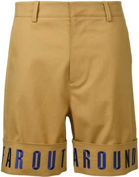 General Idea embroidered hem shorts