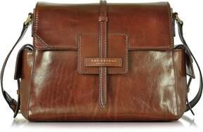 The Bridge Icons Marrone Leather Shoulder Bag