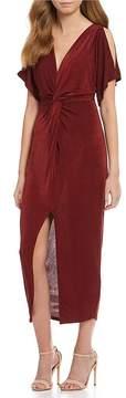 Astr Kiera Faux Wrap Dress