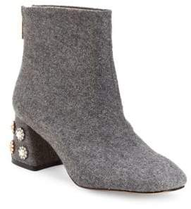 Nanette Lepore Nanette By Rose Boucle Fabric Booties