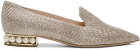 Nicholas Kirkwood Gold Lurex Casati Pearl Loafers