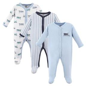 Luvable Friends Baby Boy Sleep 'N Play, 3-pack