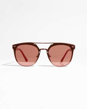 Express Metal Brow Bar Sunglasses