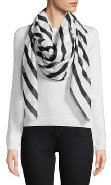 Karl Lagerfeld Brush Stroke Striped Scarf