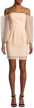 Keepsake Women's Eyelet Mini Dress