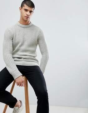 Brave Soul Heavy Fisherman Rib Sweater