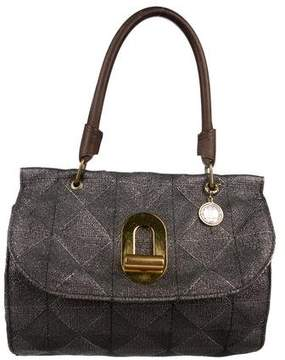 Lanvin Metallic Canvas Shoulder Bag