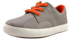 Clarks Club Samba Toddler W Leather Gray Fashion Sneakers.