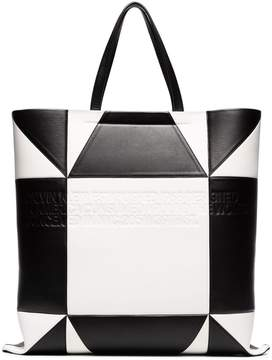 Calvin Klein geometric quilted leather tote