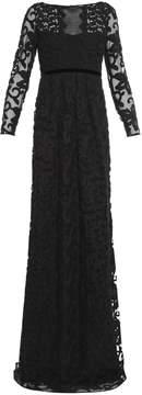 Burberry Floral cotton-blend lace gown