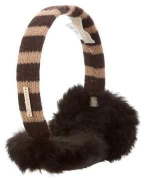 MICHAEL Michael Kors Rabbit Fur Ear Muffs
