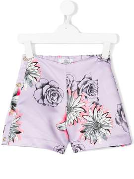 Versace floral-print shorts