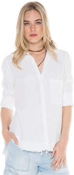 Bella Dahl Rounded Yoke Button Down-White-L