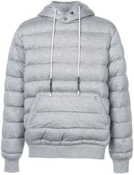 Mostly Heard Rarely Seen knit quilted pull over hoodie