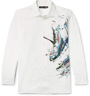 Issey Miyake Printed Cotton-Poplin Shirt