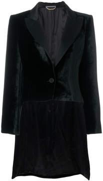 Alberta Ferretti asymmetric velvet blazer