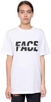 Facetasm Logo Print Cotton Jersey T-Shirt