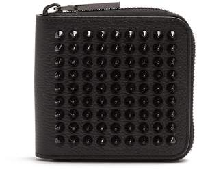 Christian Louboutin Panettone spike-embellished square leather wallet