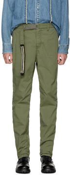 Sacai Khaki Washed Cotton Trousers
