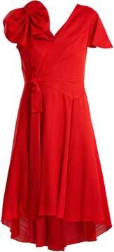 DELPOZO Bow-embellished V-neck dress
