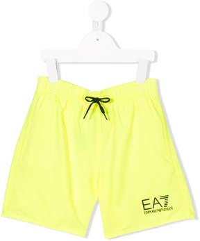 Trunks Ea7 Kids logo print swimming