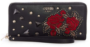 GUESS In Love Embroidered Zip-Around Wallet