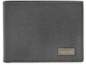 Salvatore Ferragamo Men's Leather Bifold Leather - Grey