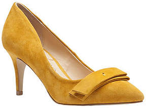 Sole Society Pointed Toe Suede Leather Pumps w/Bow - Peyton
