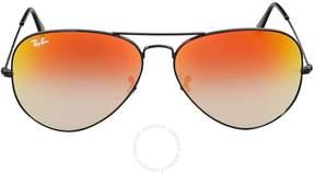 Ray-Ban Aviator Red Gradient Mirror Sunglasses