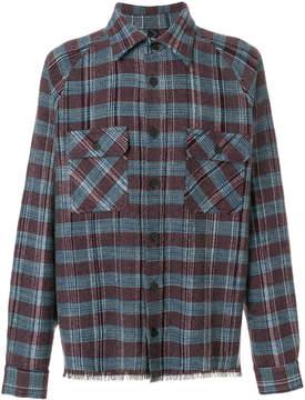 Missoni frayed trim checked shirt