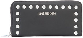 Love Moschino silver studded zipped purse