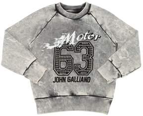 John Galliano Studded Cotton Sweatshirt