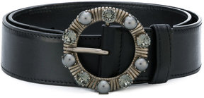 Miu Miu embellished buckle belt