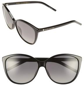 Marc Jacobs Women's 58Mm Polarized Butterfly Sunglasses - Black