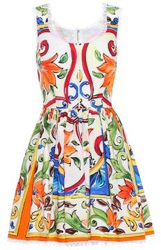 Dolce & Gabbana Sleeveless printed cotton dress