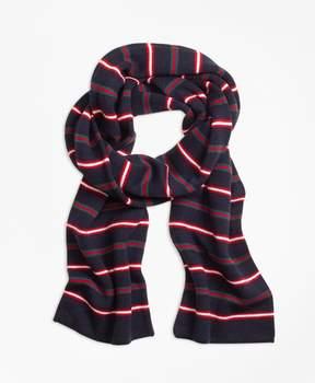 Brooks Brothers Merino Wool Stripe Scarf