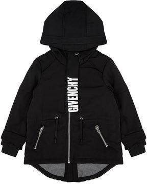 Givenchy Logo Print Parka Coat