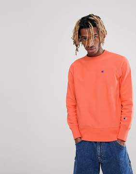 Champion Sweatshirt With Small Logo In Coral