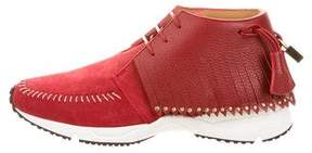 Buscemi Suede Gladiator Sneakers