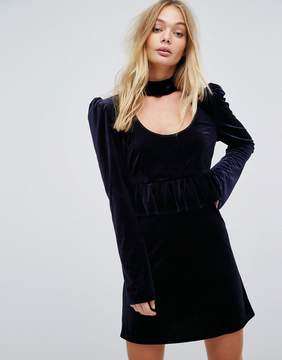 MACKINTOSH Millie Velvet Ruffle Dress